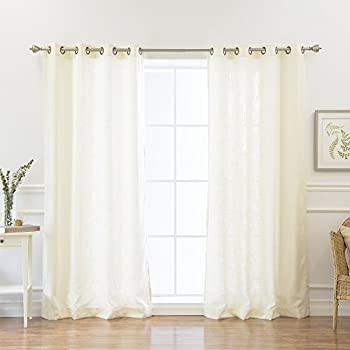 Best Home Fashion Natural Flax Faux Linen Curtains   Antique Bronze Grommet  Top   Natural Flax