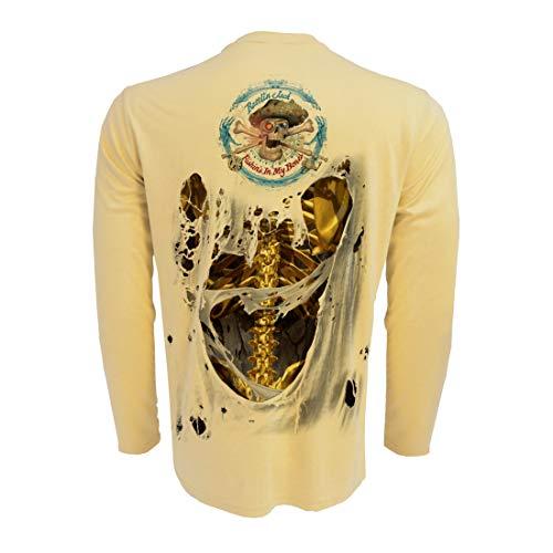 Rattlin Jack Men's Long Sleeve UV Fishing Skeleton Back XL Gold on ()