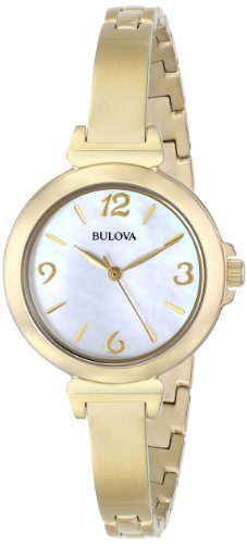 Bulova Women's 97L136 Analog Display Japanese Quartz Yellow Watch