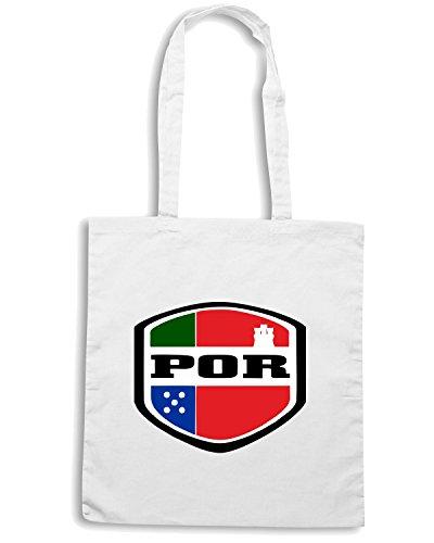 T-Shirtshock - Bolsa para la compra WC0102 PORTOGALLO PORTUGAL Blanco