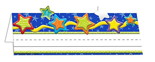 Eureka Back to School Color My World Shooting Star Name Plates for Teachers, 36pc, 9.62 '' W X 6.5'' H