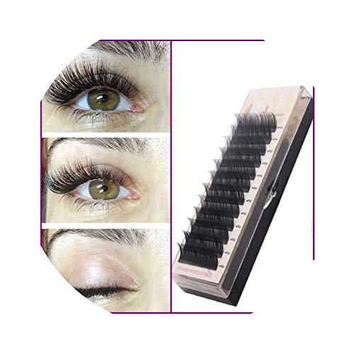 Individual Silk Eyelash Further All size Eyelash Extension Mink,D,0.07mm,8 to 14 MIX-Length