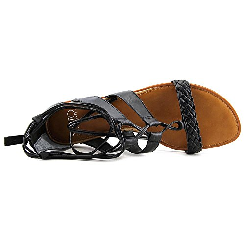 ... Franco Sarto Womens Pierson Blonder-up Sandal Sort Skinn ...