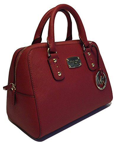 Michael Kors Small Satchel Red Saffiano Leather (Michael Cross Bag Kors)