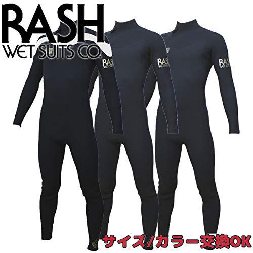 2019 RASH WET SUITS ラッシュ ウェットスーツ オールジャージ 3.5mmフルスーツ 春夏用 メンズ バックジップ LX LIMITED BLACK/BLACK(SILVER) L/ B07QWSF1JR