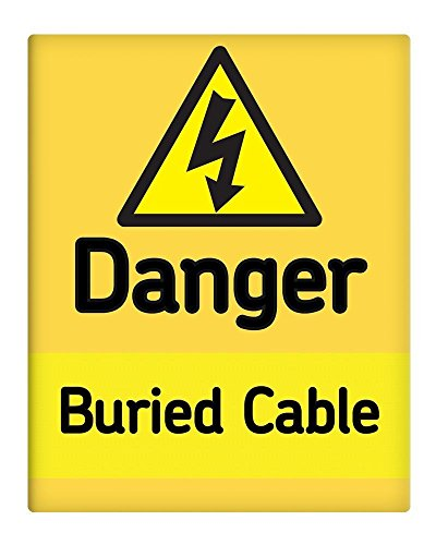 Ohngangd Danger - Placa de Metal para Cable enterrado de Electricidad, 20 x 30 cm