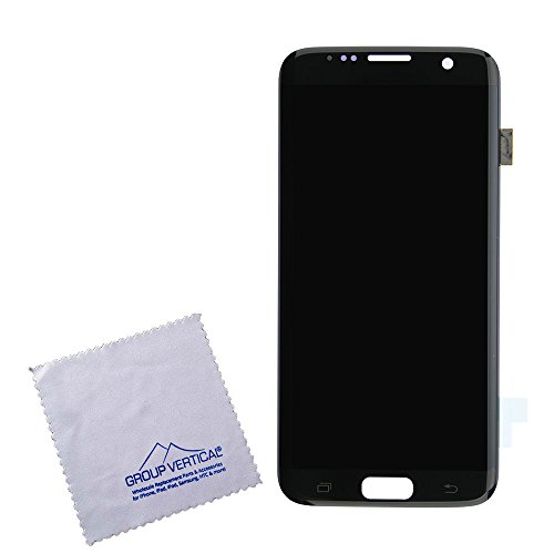 Touch Screen Digitizer and LCD with Frame for Samsung Galaxy S7 Edge - Black Onyx by Group Vertical by Group Vertical