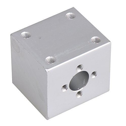 CNBTR 34x30x28mm Silver Ballscrew Nut Housing Bracket Holder T8 Trapezoidal Screw Seat for 3D Printer/Coding machine