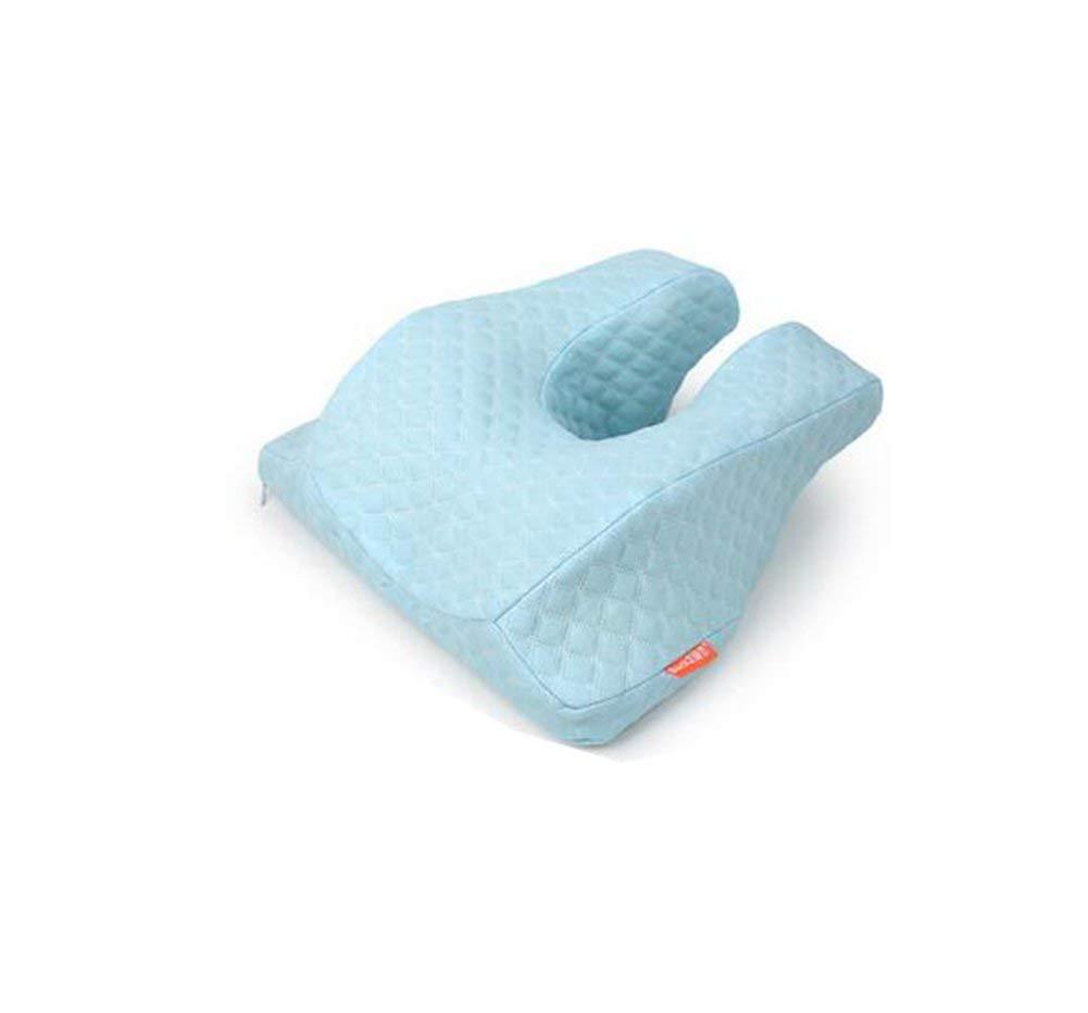378 5000 Reisekissen Auto Kopfstütze Memory-Reisekissen aus weichem Micro-Samt-Gewebe, ergonomisches Design für optimalen Hals-, Kopf- und Schulterbereich, blau (Farbe   LightBlau)