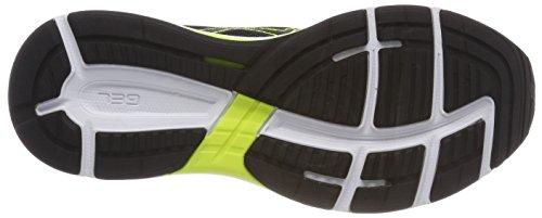 Asics Gel-Phoenix 9, Chaussures de Running Homme, Noir Gris (Stone Grey/Black/Safety Yellow 1190)