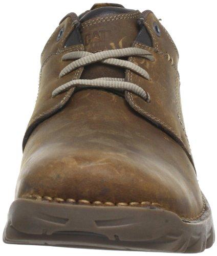 Catepillar Emerge, Zapatos Casual de Cuero para Hombre Beige (Mens Dark Beige)