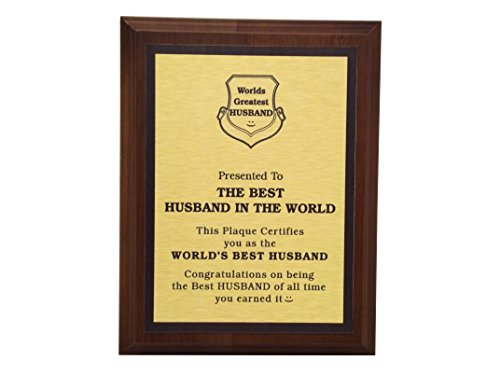 Aahs Engraving Worlds Greatest Plaques (Best Husband In The Word, Gold)
