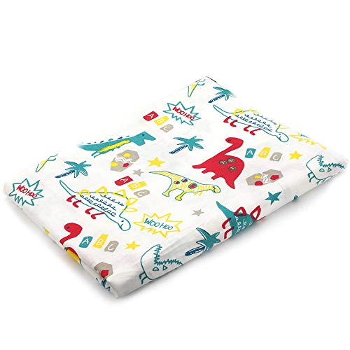 Muslin Swaddle Blankets Silky Soft 100% Cotton Absorbent 1 Pack 47×40 inch Large Muslin Swaddle Baby Shower Gift for Girl and Boy (Color NO36)