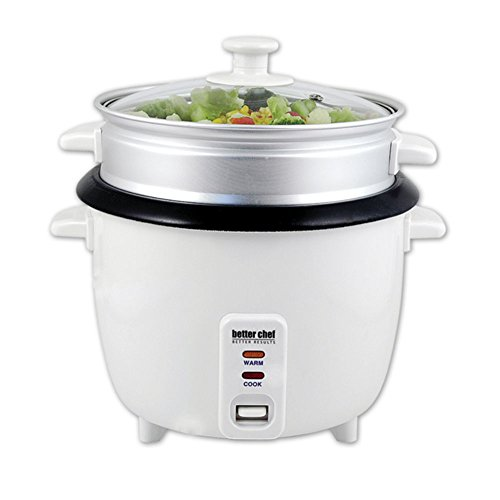 Better Chef IM-405SB Rice Cooker 5 Cup W/Food Steamer Attach