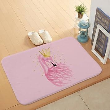Nikgic 1 St/ück Flanell Schwamm Teppich Flamingo Muster Bodenmatte 60 cm /× 40 cm Stil 1