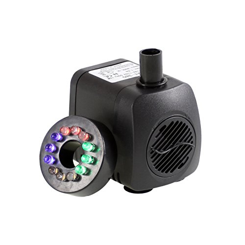 Fountain Pump With Led Light