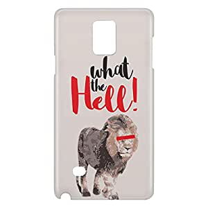 Loud Universe Galaxy Note 5 Lion What The Hell Print 3D Wrap Around Case - Gray