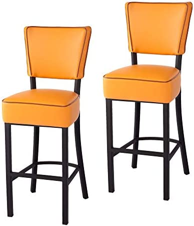 LUCKYERMORE Pub Chairs 30 inch Modern Barstools Kitchen Bistro Dining Room Chair