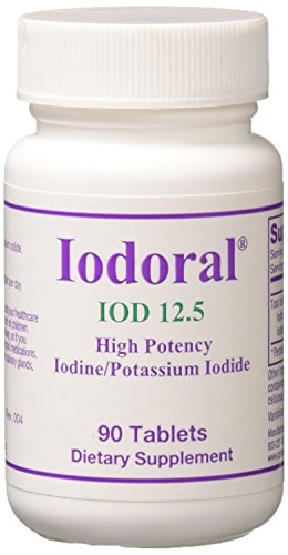 Optimox - Iodoral, High Potency Iodine Potassium Iodide Thyroid Support Supplement 12.5 milligrams, 90 ()