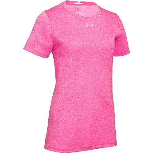 Under Armour Women's UA Short Sleeve Locker T-Shirt (X-Large, Pink Punk-Metallic ()