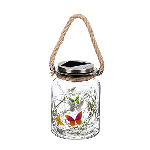 New Creative Butterfly Solar Mason Jar with String Lights Evergreen Jar Candle