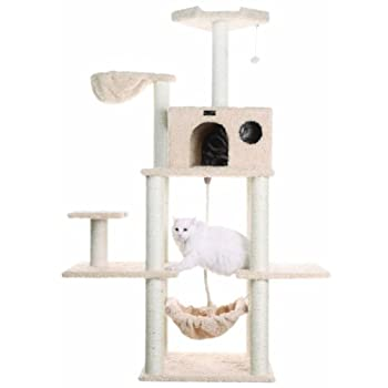 Image of Aeromark International Armarkat Mult -Level Cat Tree Hammock Bed, Climbing Center for Cats and Kittens A6901 Pet Supplies