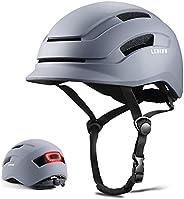 Ledivo Adult Bike Helmet with Rear Light, Cycling Helmet CPSC Certified for Urban Commuter Adjustable for Men/