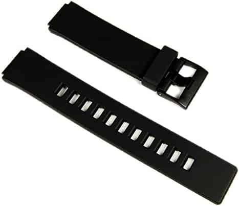 Casio watch strap watchband Resin black 16mm W-110 LCF20 LDF20