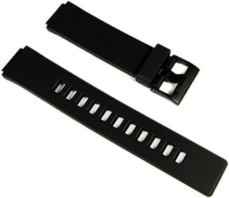 Casio watch strap watchband Resin black 16mm W-110 LCF20 LDF20