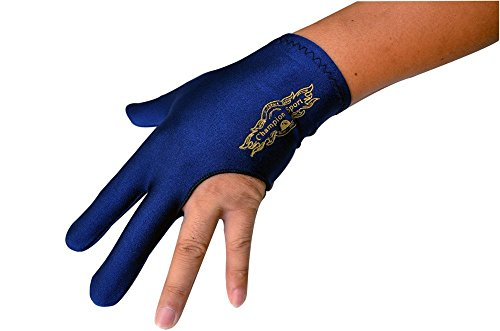 Champion Sport Dark Blue Left Hand Billiards Gloves for Pool Cues - Wear on the Left Hand, Buy Three GET ONE Free, 1 Pool Glove