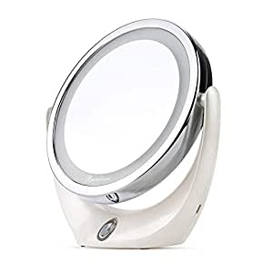 Amazon Com Makeup Mirror Broadcare Double Sided Lighted