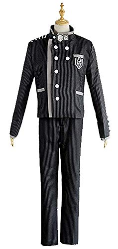 LYLAS Men's Black and White Stripes Halloween Uniform Suit Cosplay Costume (Costom Made)]()