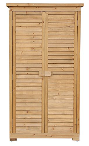 Merax Wooden Garden Shed Wooden Lockers With Fir Wood