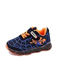 ROKIDS Kids Toddler Boys Spiderman Light Up Shoes Girls LED Sneaker