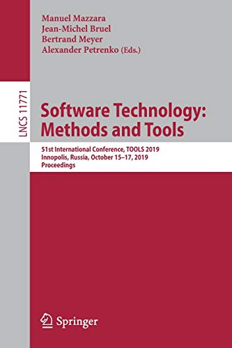 Software Technology: Methods and Tools: 51st International Conference Front Cover