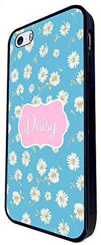 1172 - Floral Shabby Chic Multi Daisy Design iphone SE - 2016 Coque Fashion Trend Case Coque Protection Cover plastique et métal - Noir