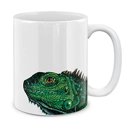 MUGBREW Cute Animal Green Iguana Ceramic Coffee Gift Mug Tea Cup, 11 OZ