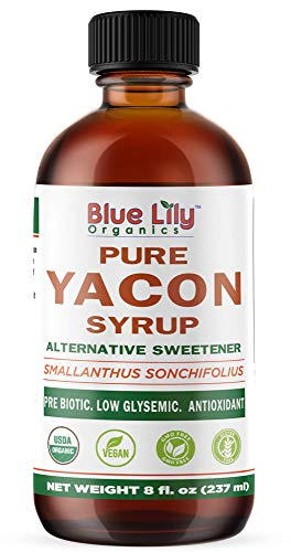 Blue Lily Organics | Yacon Syrup | Alternative Sweetener | All Natural Prebiotic
