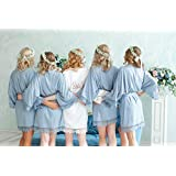 Cotton Lace Robe | Bridesmaid Robes | Bride Robe | Bridal Party Robes | Bridesmaid Gifts | Cotton Robe | Wedding Gifts | Customized