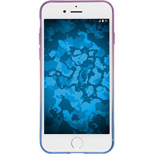 PhoneNatic Case für Apple iPhone 8 Hülle Silikon Design:04 Ombrè Cover iPhone 8 Tasche + 2 Schutzfolien