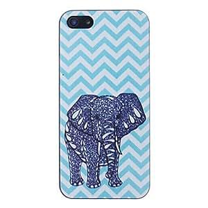 MOFY-Waves Elefantes Patr—n Negro Frame PC caso duro para el iPhone 5/5S