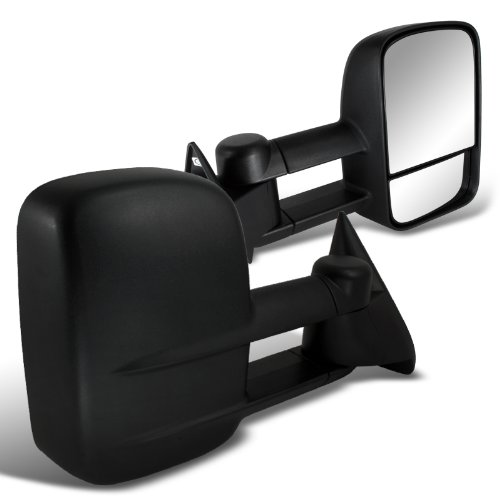 Spec-D Tuning RMX-C1088-M-FS Chevrolet Chevy C10 Pick Up Truck Manual Side Towing Mirrors Black Chevrolet K2500 Replacement Mirrors