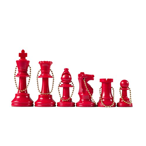 Wholesale Chess - Chess Pieces Keychain Set (Red)