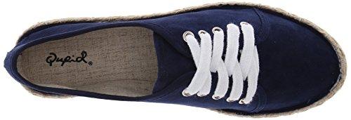 Qupid Kvinna Mermosa-21 Balett Platt Marinblå