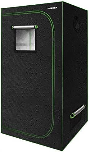 VIPARSPECTRA 36 x36 x72 Reflective 600D Mylar Hydroponic Grow Tent for Indoor Plant Growing 3 x3