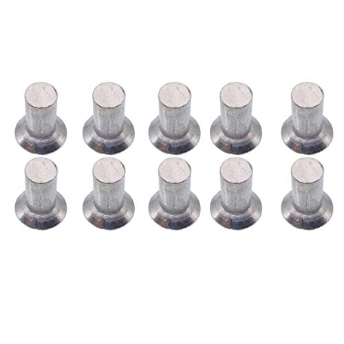 - 100pcs 6mm Dia 12mm Shank CSK Flat Countersunk Head Aluminum Solid Rivets