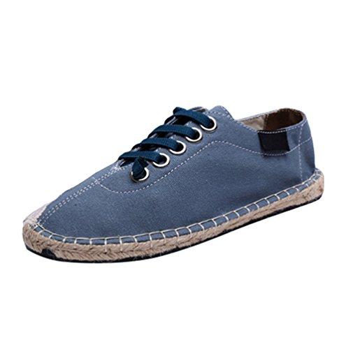 Chenyang Chaussure Impression Coutures Slip Unisex Espadrilles Lacets Surpiqûres Bleu2 À Plateforme on Mode txrCsdQh