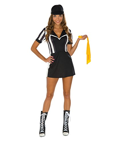Referee Costume Accessories (Rubie's Women's Referee Costume Dress, Multi, One Size)