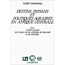 Destins paysans et politiques agraires en Afrique centrale (Collection Alternatives rurales) (French Edition)