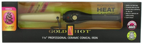 Gold N Hot Ceramic Conical Iron, 1-1 4 Inch Curling Iron
